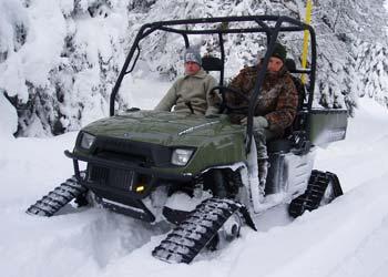 Für Winter wie diesen: Polaris Raupen-ATVs von Vonblon